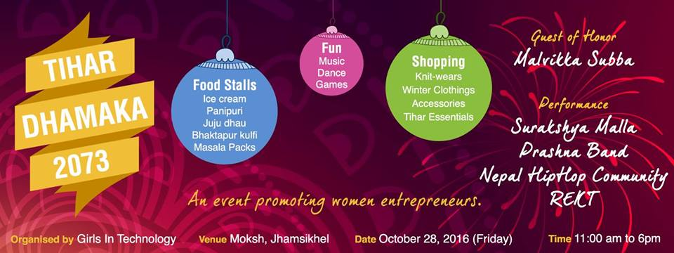 Tihar Dhamaka 2073 – An Initiative by Girls in Technology to Promote Women Entrepreneurs